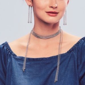 C & I Waterfall Lariat convertible Necklace
